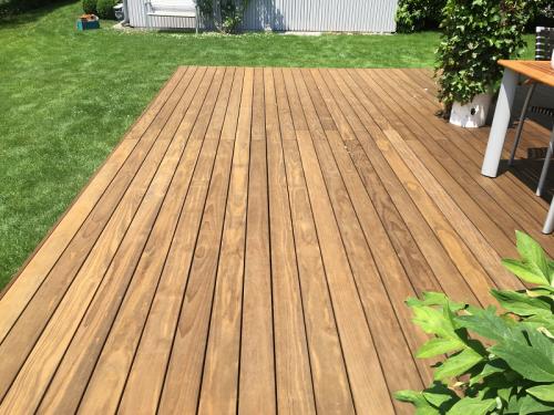 Holzterrasse verlegen ohne Schrauben (4)