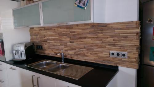Küche Rückwand Holz