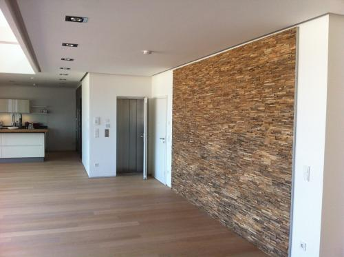 Teak Holz Wandverkleidung Wohnzimmer
