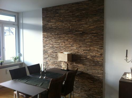 Teak Holz Wandverkleidung modern