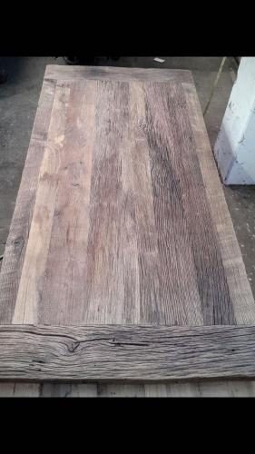 Tischplatte Eiche rustikal Querfries