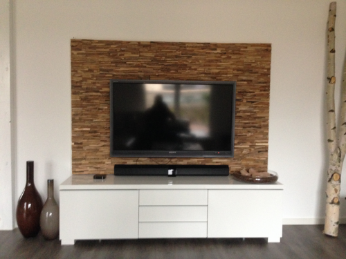 Wandverkleidung Holz TV