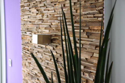 Wandverkleidung Holz schlicht modern