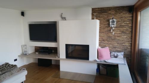 Wohnzimmer Wand Holz